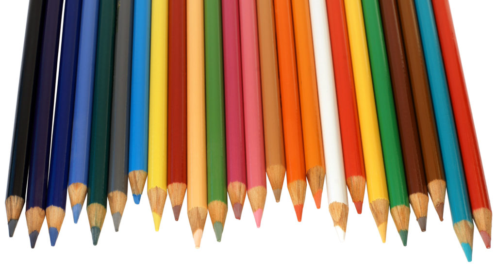Several colored pencils.