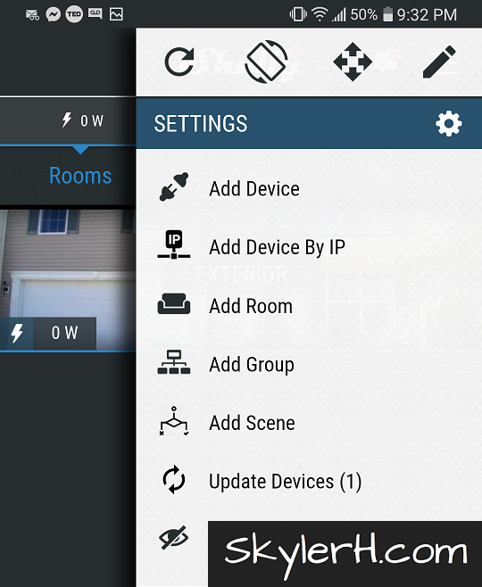 Add Device within the Shelly app to add your new Shelly 2.5 to your home automation setup.